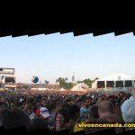 Panorama desde cerca del escenario.