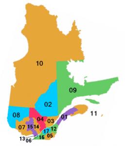 Regiones del Quebec