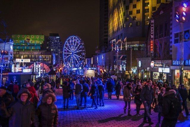 Nuit blanche à Montréal - Montréal en Lumière Foto: Matias Garabedian.
