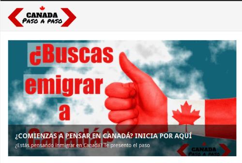 """Sitio web """"Canadá paso a paso"""""""