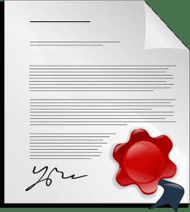 Certificación emitida por una entidad oficial