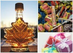 Sirope o miel de arce, dulces y otros regalos