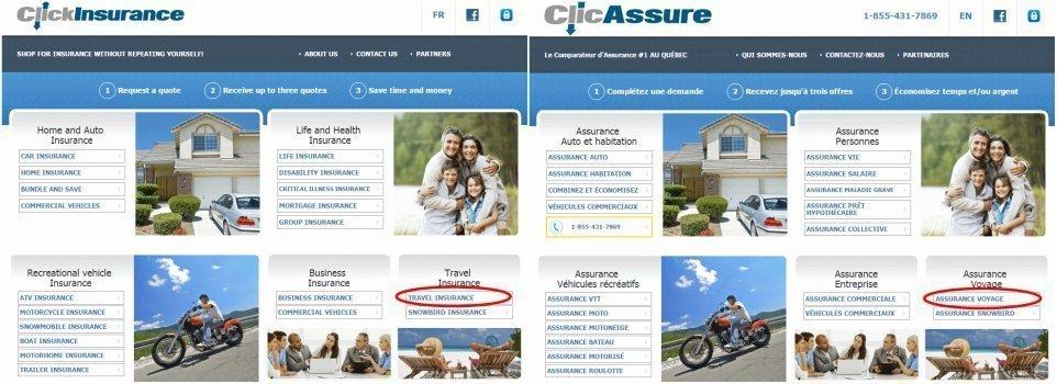 Seguro para viajar a Canadá. comparador de precios de seguros