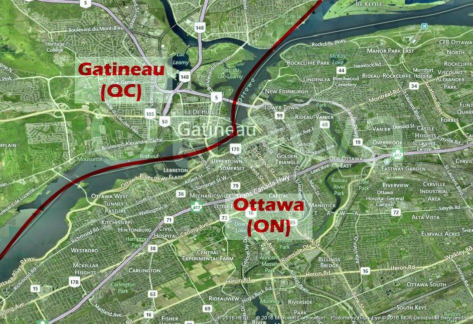 Ottawa-Gatineau, vista aérea