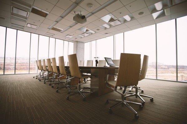 Sala de juntas, reunión de trabajo